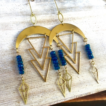Blue Star Rain Earrings