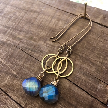 Blue Flash Earrings
